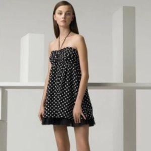 Alice + Olivia Polka Dot Halter Dress